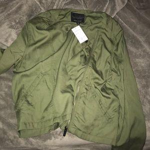 Sanctuary tencel moto jacket in green